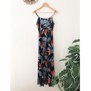 Patrons of Peace Tie Back Maxi Dress Size Small